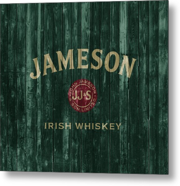 Jameson Irish Whiskey Barn Door Metal Print