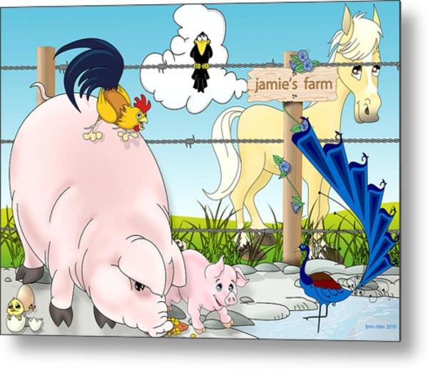 Jamie's Farm Metal Print