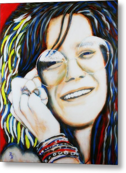 Janis Joplin Pop Art Portrait Metal Print