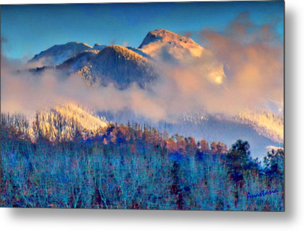 January Evening Truchas Peak Metal Print