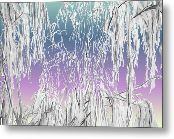 January Hoarfrost Metal Print