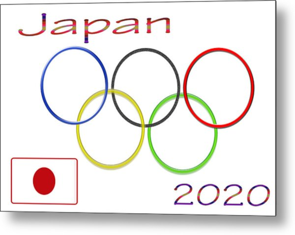 Japan Olympics 2020 Logo 3 Of 3 Metal Print