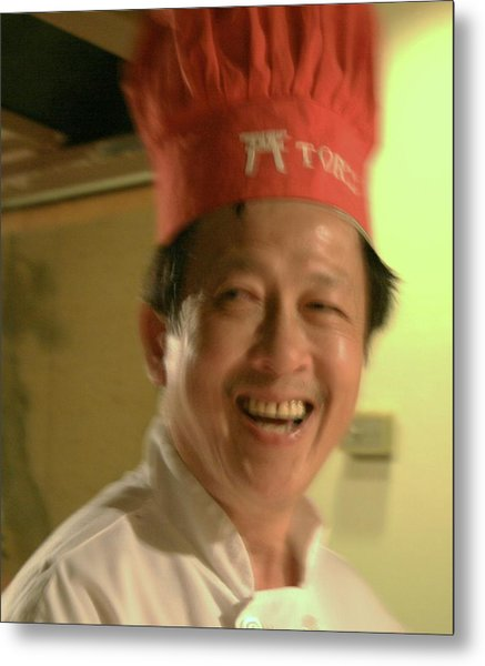 Japanese Chef Metal Print by Joshua Sunday