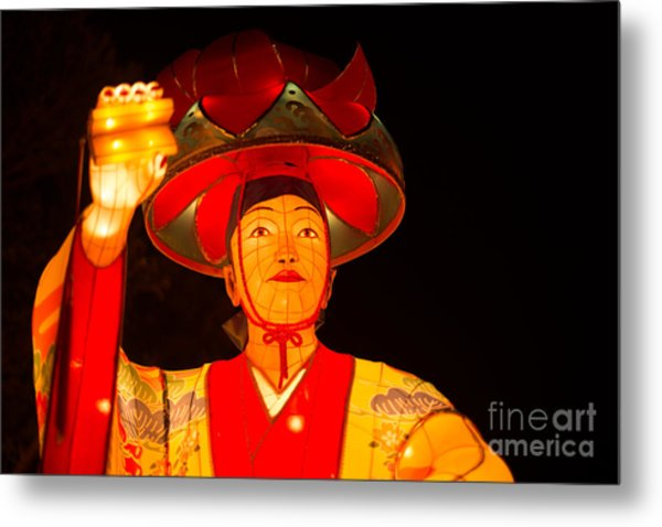 Japanese Dancer Lantern 2 Metal Print