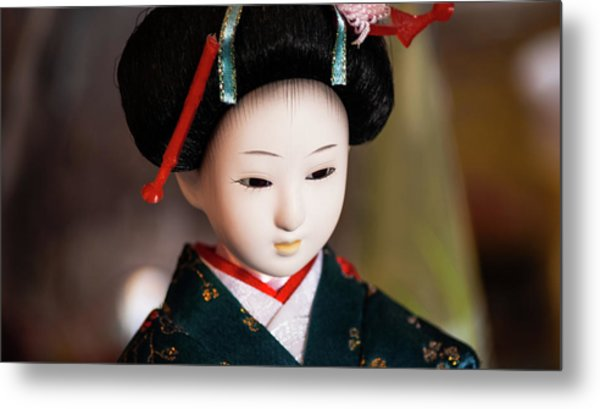 Japanese Doll Metal Print