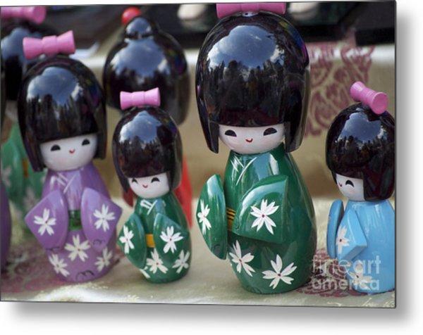 Japanese Dolls Metal Print