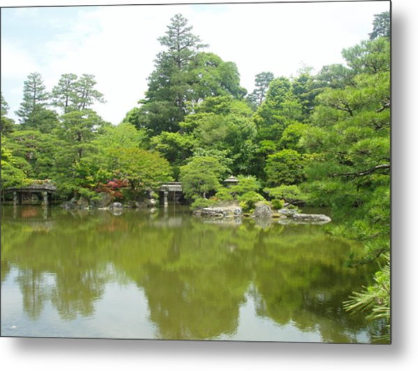 Japanese Garden Ix Metal Print by Wendy Uvino