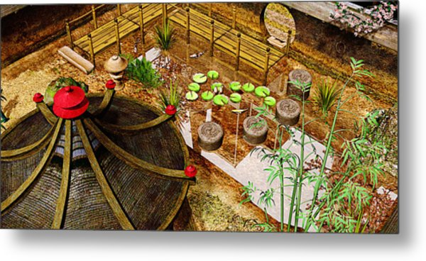 Japanese Garden Metal Print by Peter J Sucy