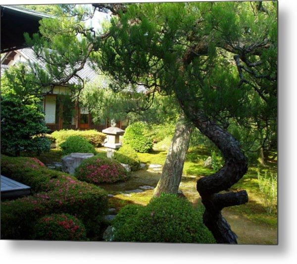 Japanese Garden V Metal Print by Wendy Uvino