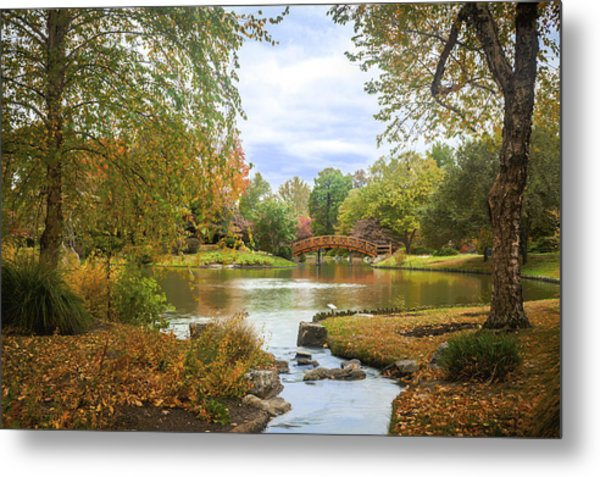 Metal Print featuring the photograph Japanese Garden View by David Coblitz