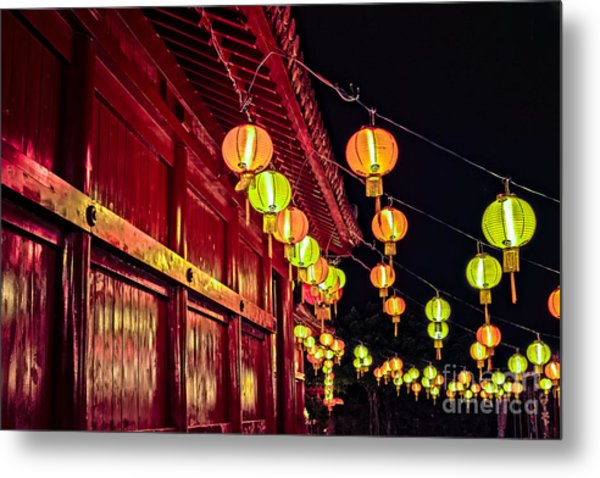 Japanese Lanterns 10 Metal Print