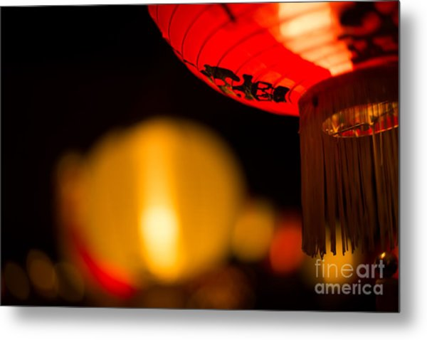 Japanese Lanterns 2 Metal Print