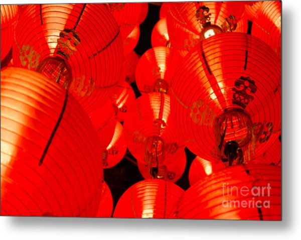 Japanese Lanterns 7 Metal Print