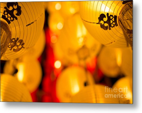 Japanese Lanterns 8 Metal Print