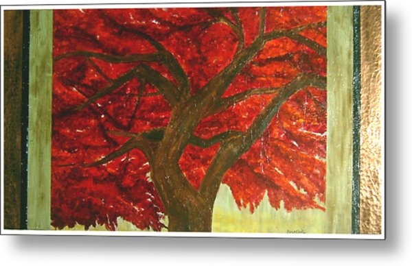 Japanese Maple Metal Print by Ellen Beauregard