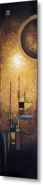 Japanese Moon Metal Print