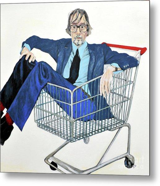 Jarvis Cocker 'off Yer Trolley' Metal Print