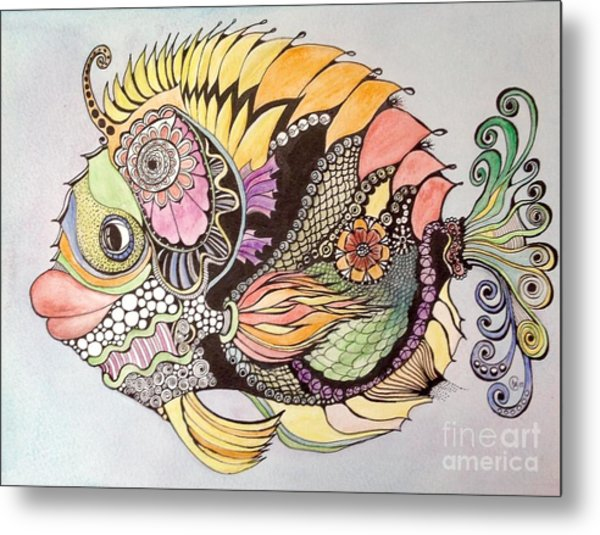 Jasmine The Fish Metal Print