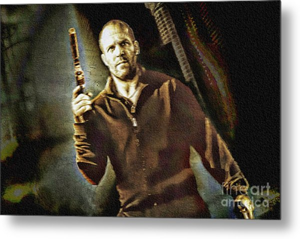 Jason Statham - Actor Painting Metal Print