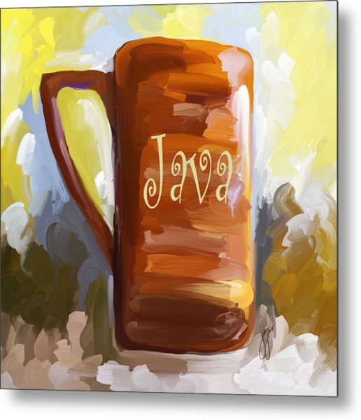 Java Coffee Cup Metal Print