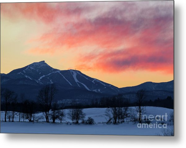 Jay Peak Winter Twilight Metal Print
