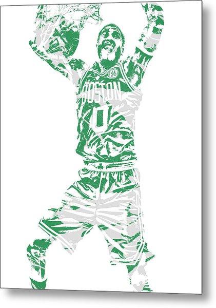 Jayson Tatum Boston Celtics Pixel Art 11 Metal Print