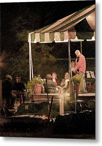 Jazz At The Boathouse Subdued Metal Print
