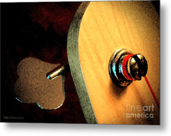 Jazz Bass Tuner Metal Print