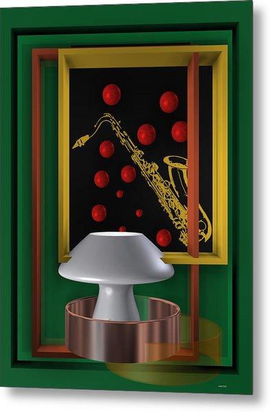 Metal Print featuring the digital art Jazz Club by Alberto  RuiZ