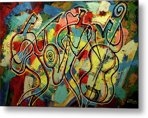Jazz Rock Metal Print