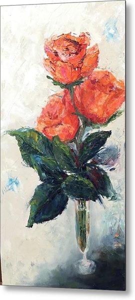 Jeannie's Roses Metal Print