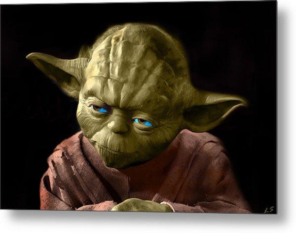 Jedi Yoda Metal Print