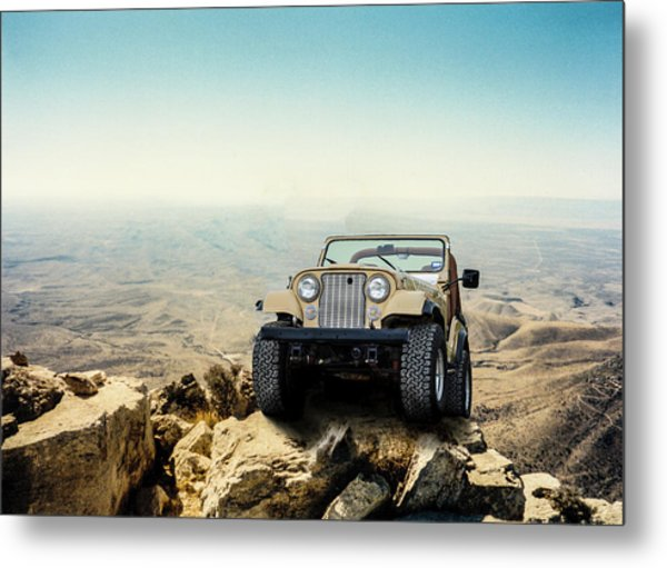 Jeep On A Mountain Metal Print