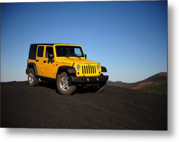 Jeep Rubicon In The Cinders Metal Print