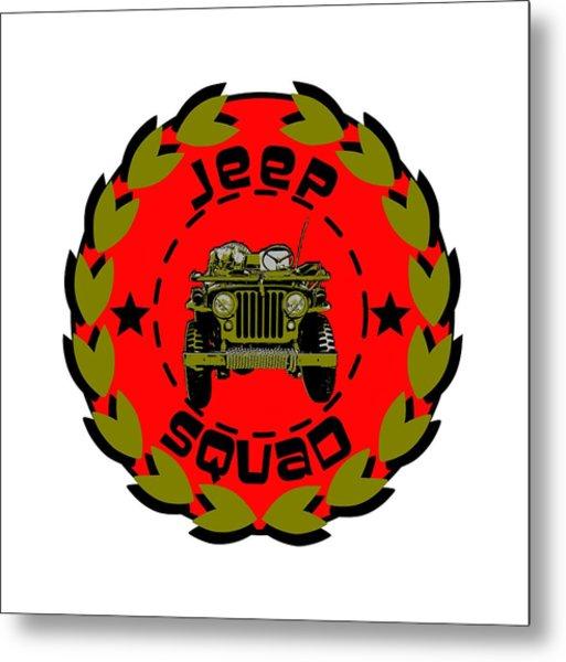 Jeep Squad Metal Print