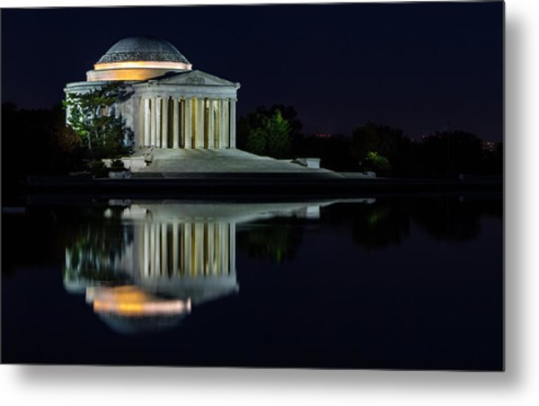The Jefferson At Night Metal Print