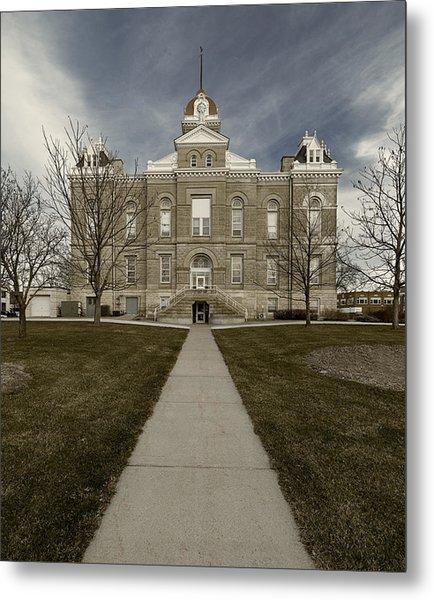 Jefferson County Courthouse In Fairbury Nebraska Rural Metal Print