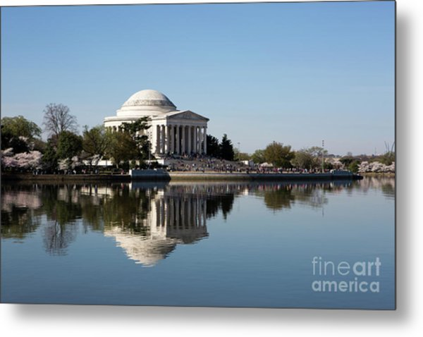 Metal Print featuring the photograph Jefferson Memorial Cherry Blossom Festival by Steven Frame