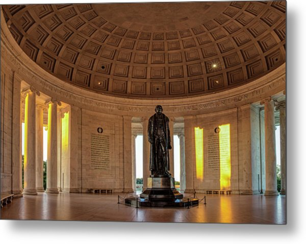 Jefferson Memorial In Morning Light Metal Print