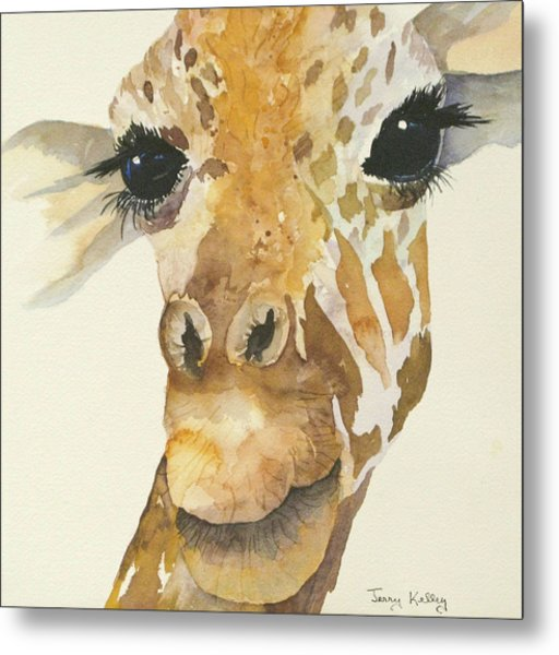 Jeffrey Giraffe Metal Print