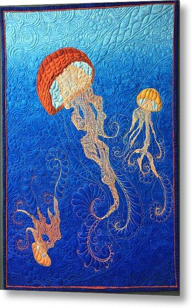 Jellies Of The Sea Metal Print