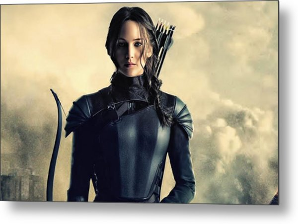 Jennifer Lawrence The Hunger Games  2012 Publicity Photo Metal Print