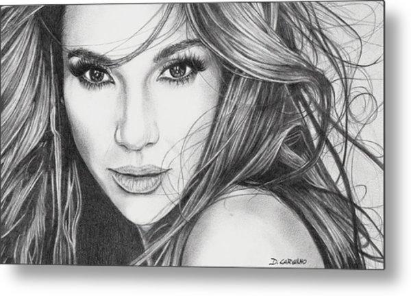 Jennifer Lopez Metal Print