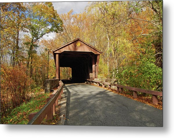 Jericho Covered Bridge Metal Print