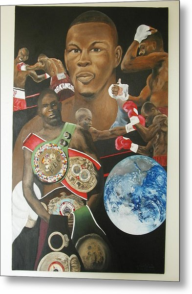 Jermain Taylor Montage Metal Print by Angelo Thomas