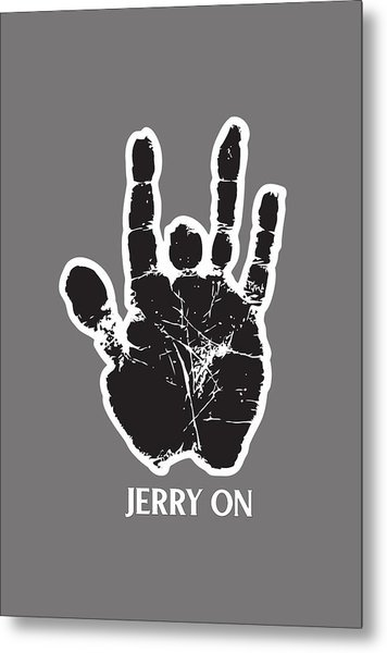 Jerry On Metal Print