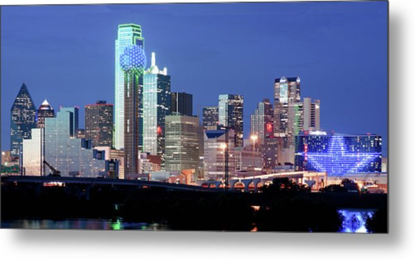 Jerry's Dallas Skyline Metal Print