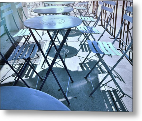 Jersey City Cafe Metal Print by JAMART Photography