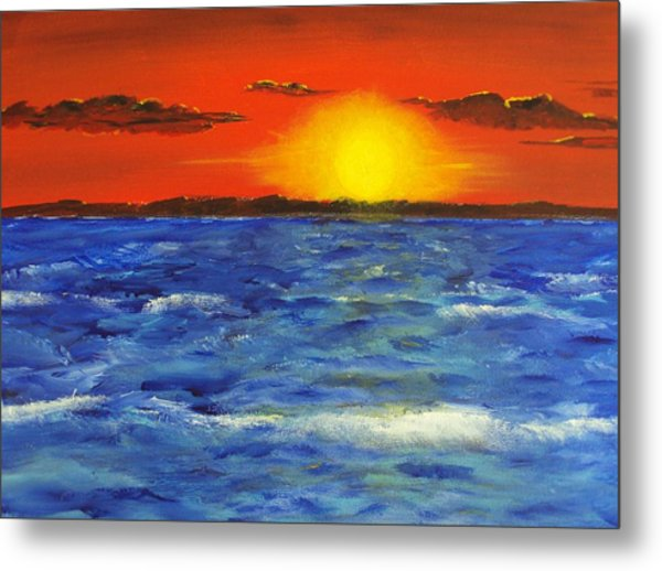 Jersey Shore Sunset Metal Print