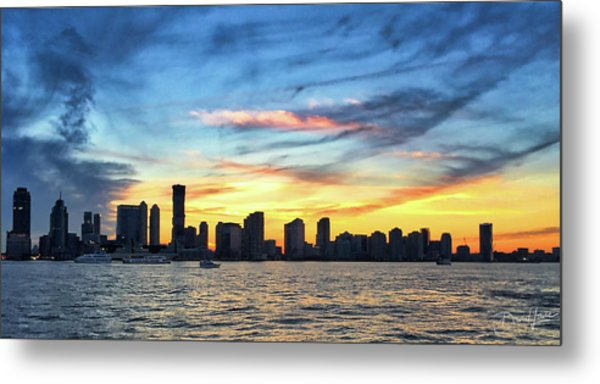 Metal Print featuring the photograph Jersey Skyline by David A Lane
